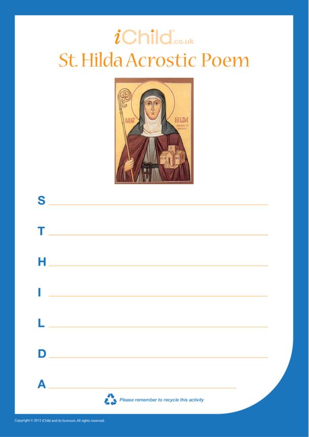 St. Hilda Acrostic Poem