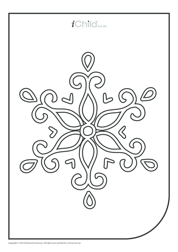 Snowflake Colouring in Picture