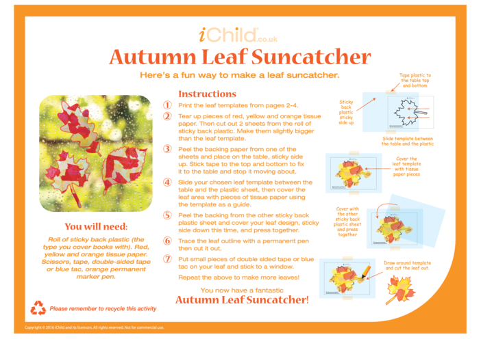 Thumbnail image for the Autumn Suncatcher activity.