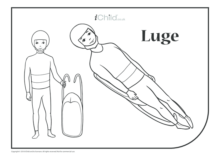Thumbnail image for the Luge Colouring in Picture activity.