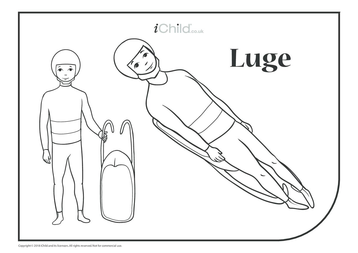 Luge Colouring in Picture