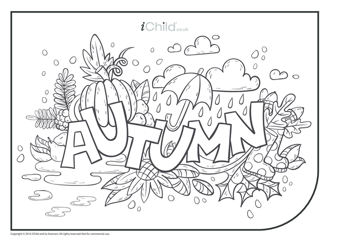 Thumbnail image for the Autumn Fun Colouring in Picture activity.
