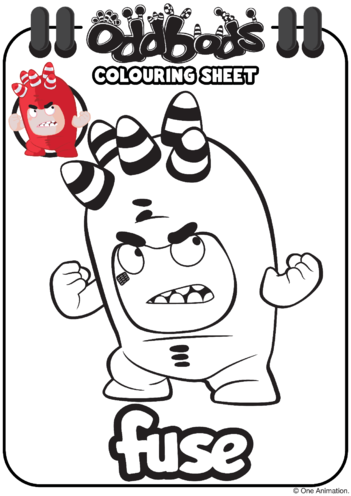 Thumbnail image for the Colouring In Fuse Oddbods activity.