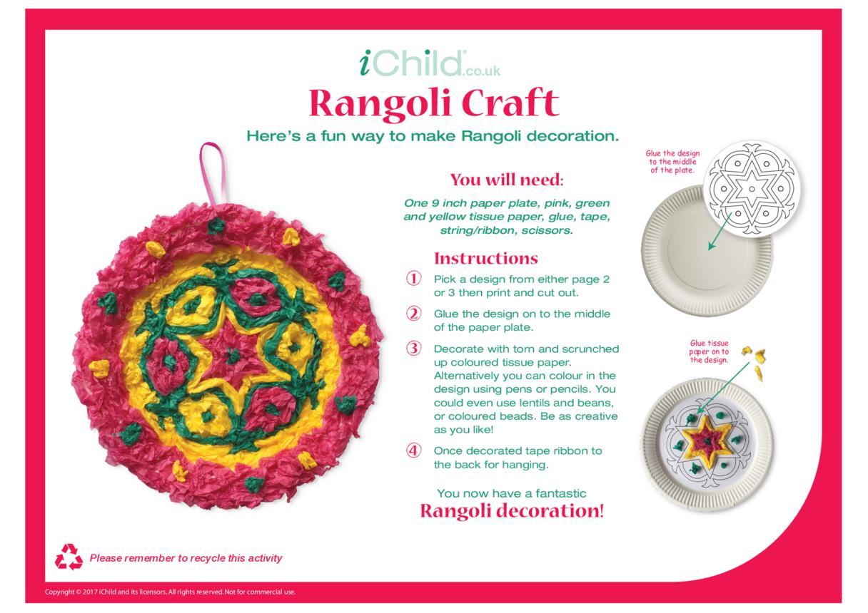 Rangoli Paper Plate Craft