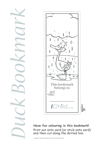 Thumbnail image for the Duck Bookmark activity.