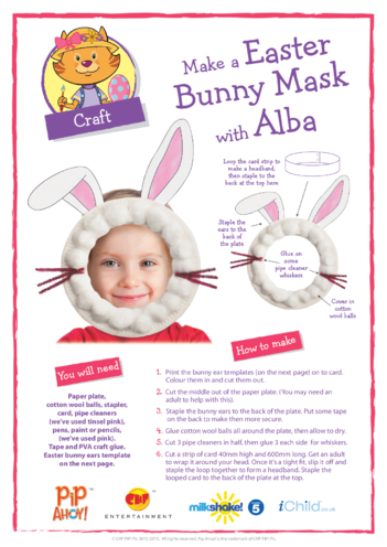 Thumbnail image for the Pip Ahoy! Easter Bunny Mask Craft (Pip Ahoy!) activity.