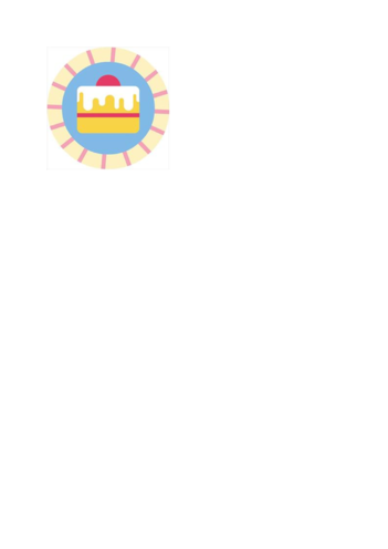 Thumbnail image for the Hey Duggee Cake Badge activity.