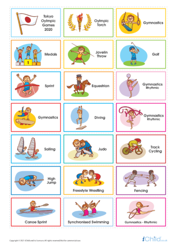 Thumbnail image for the Olympics Large Sticker Sheet activity.