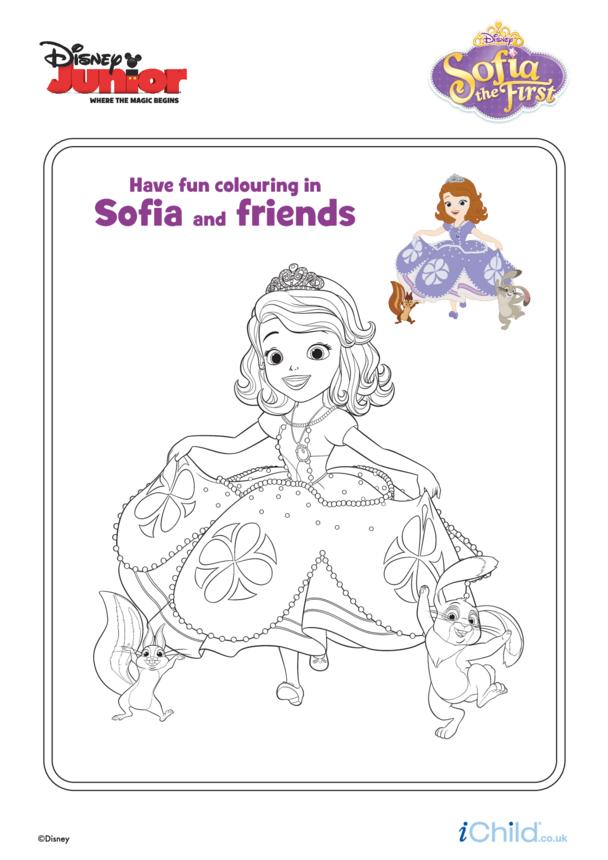 Sofia the First: Sofia & Friends Colouring- Disney Junior