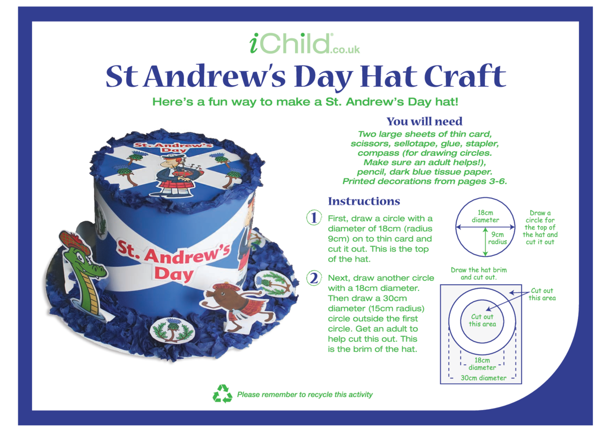 St. Andrew's Day Hat Craft