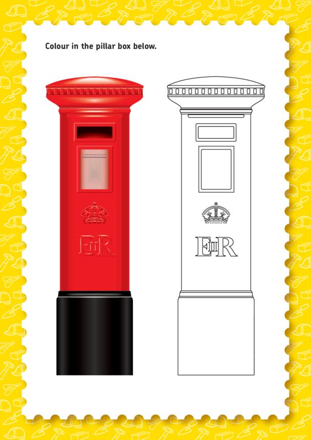 Bob the Builder: Pillar Box Colouring In (EYFS/KS1)