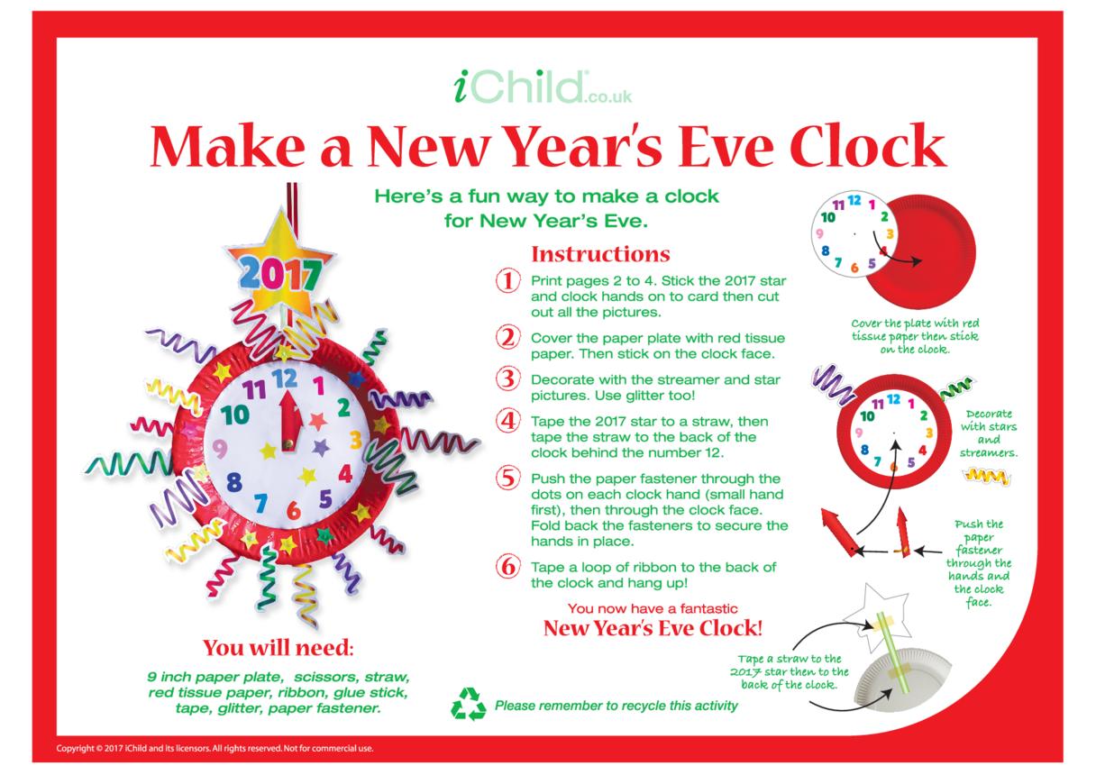 Make a New Year's Eve Clock