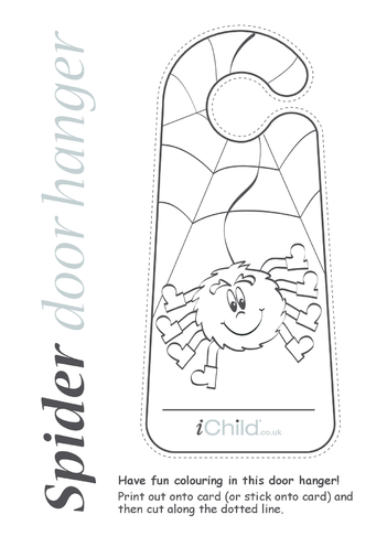 Thumbnail image for the Spider Door Hanger activity.
