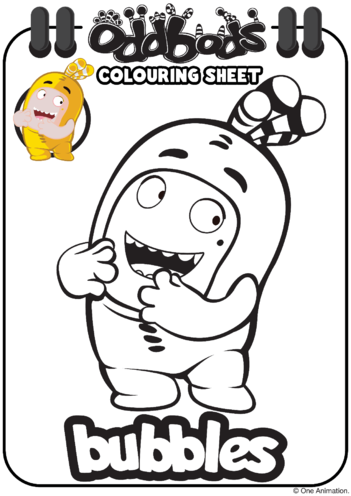 Thumbnail image for the Colouring In Bubbles Oddbods activity.