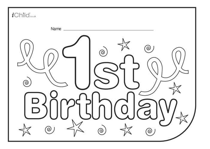 Thumbnail image for the Birthday Party Place Mats for 1 year old 1st birthday activity.
