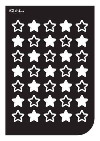 Thumbnail image for the Black & White Poster: Star Pattern activity.