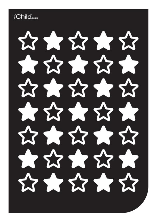 Black & White Poster: Star Pattern