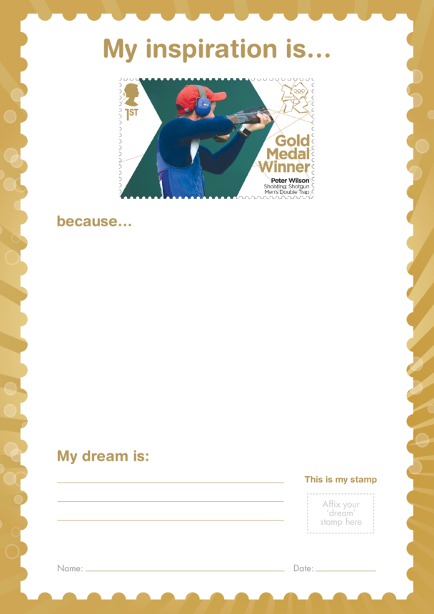 My Inspiration Is- Peter Wilson- Gold Medal Winner Stamp Template