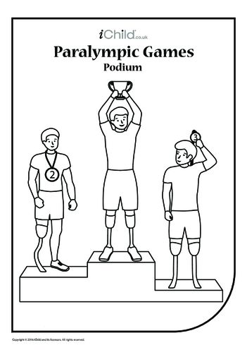 Thumbnail image for the Paralympic Podium Colouring in Picture activity.