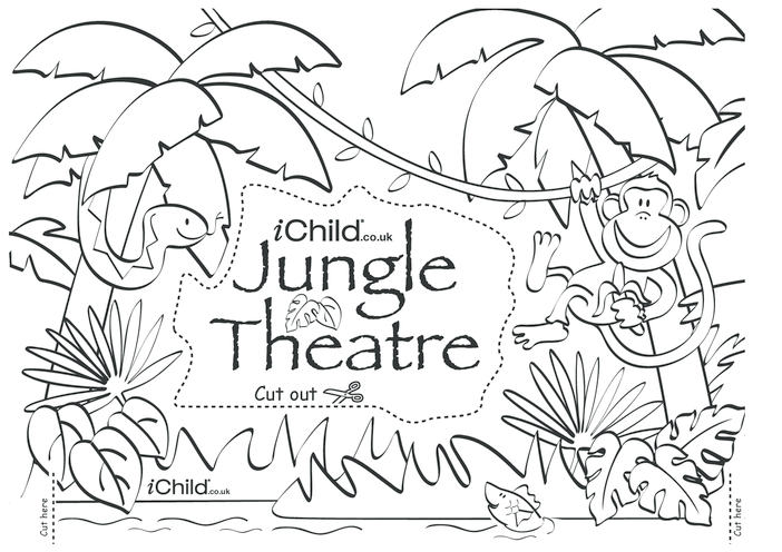 Thumbnail image for the Make your own jungle puppet theatre activity.