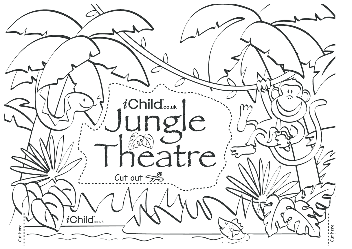 Make your own jungle puppet theatre