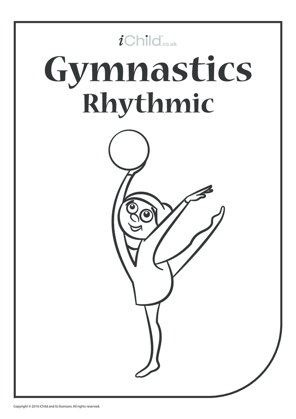 Rhythmic Gymnast Colouring in Picture (Ball)