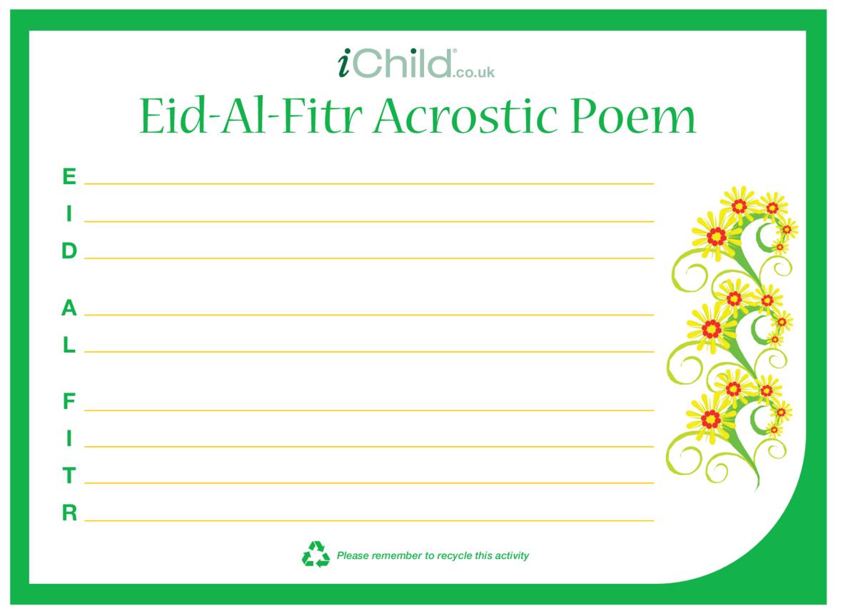 Eid al-Fitr Acrostic Poem