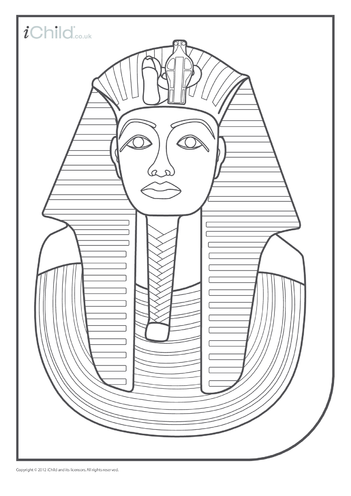 Thumbnail image for the Pharaoh Colouring in Picture activity.