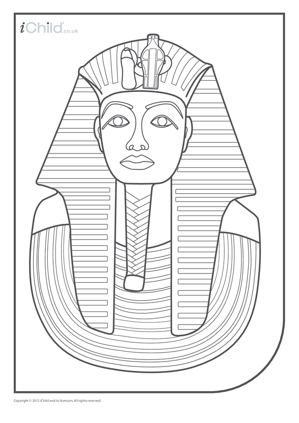 Pharaoh Colouring in Picture