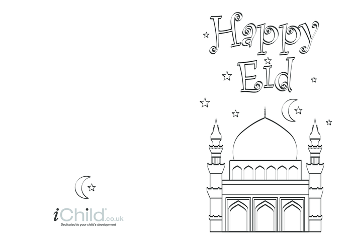 Thumbnail image for the Eid Greeting Card - Happy Eid activity.