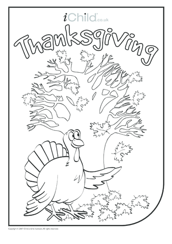 Thumbnail image for the Thanksgiving Turkey Colouring in picture activity.