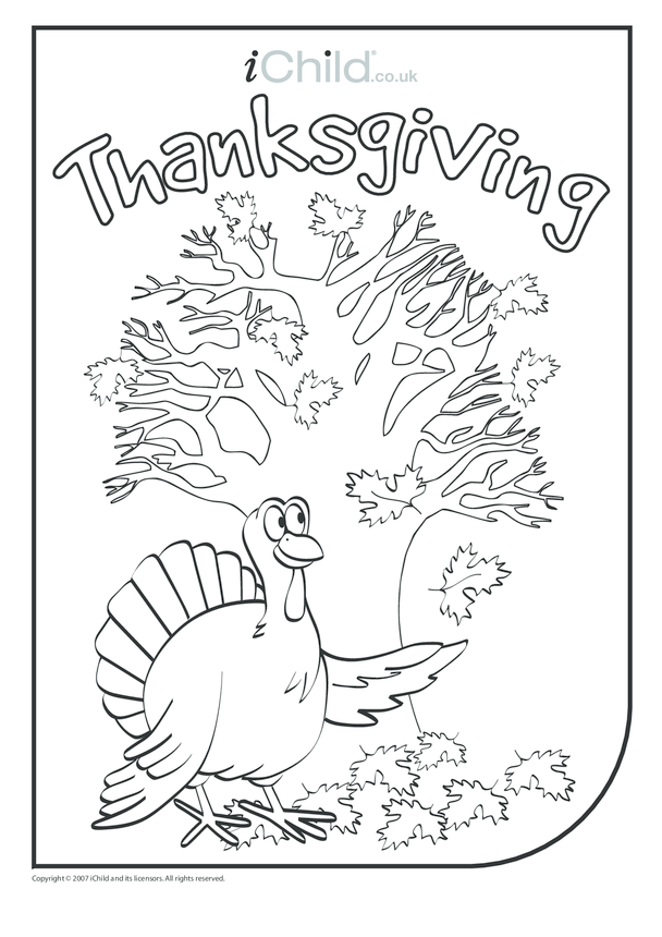 Thanksgiving Turkey Colouring in picture