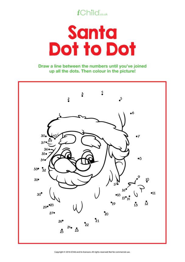 Dot to Dot Santa Picture