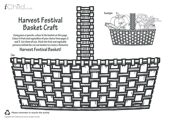 Thumbnail image for the Harvest Festival Basket Craft activity.