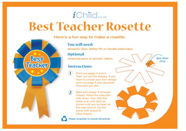 Thumbnail image for the Best Teacher Rosette activity.