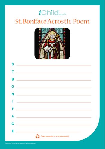 Thumbnail image for the St. Boniface Acrostic Poem activity.