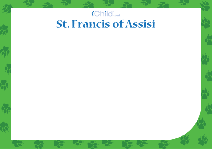 Thumbnail image for the St. Francis of Assisi Blank Drawing Template activity.
