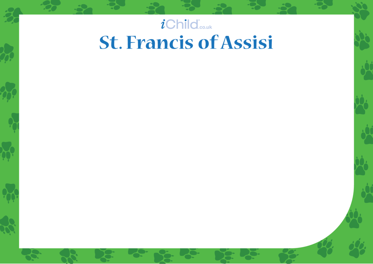 St. Francis of Assisi Blank Drawing Template