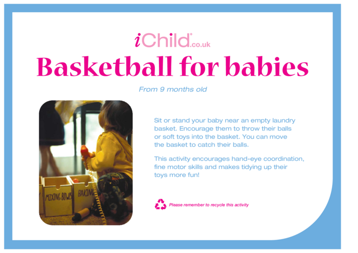 Thumbnail image for the Basketball for Babies activity.