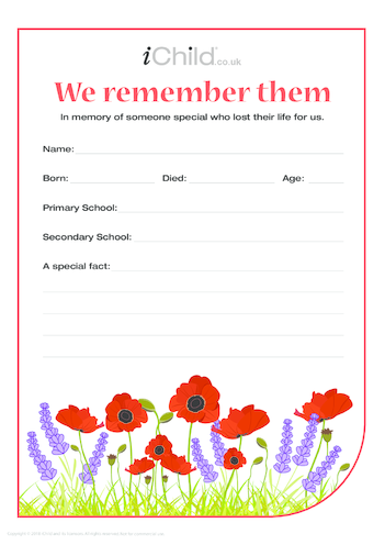 Thumbnail image for the Poppy Acrostic Poem activity.