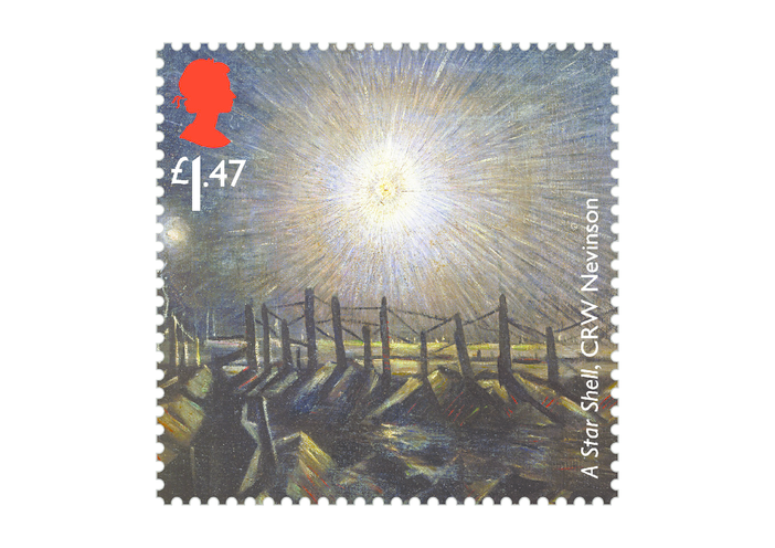 Thumbnail image for the Royal Mail iStamp Club The Great War 1914 - A Star Shell Stamp activity.