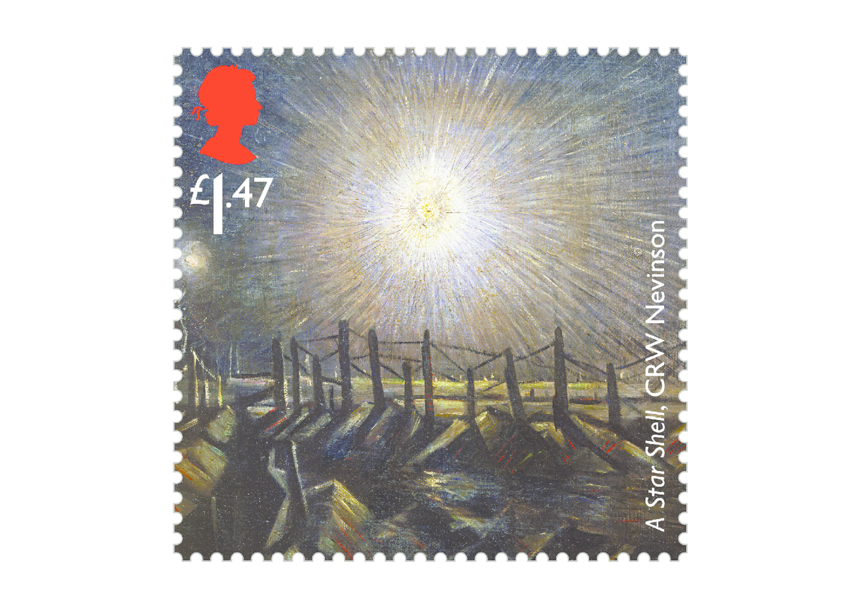 Royal Mail iStamp Club The Great War 1914 - A Star Shell Stamp