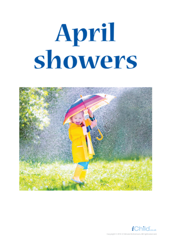 Thumbnail image for the April Showers Poster activity.