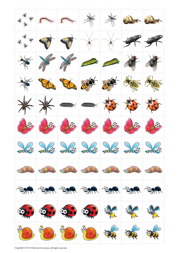 Minibeasts Reward Chart Stickers