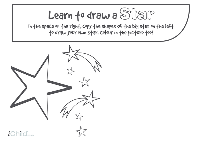 Thumbnail image for the Learn to Draw a Star activity.