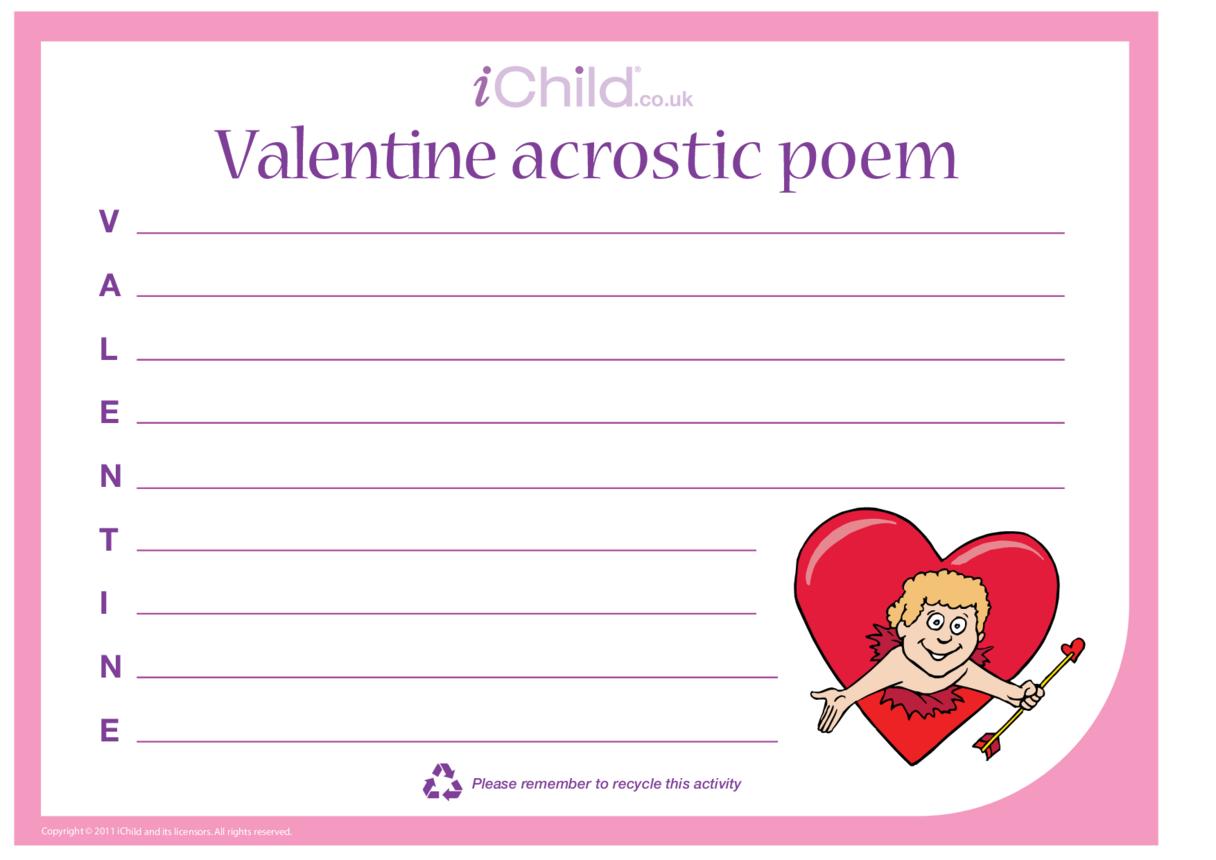 Valentine's Day Acrostic Poem