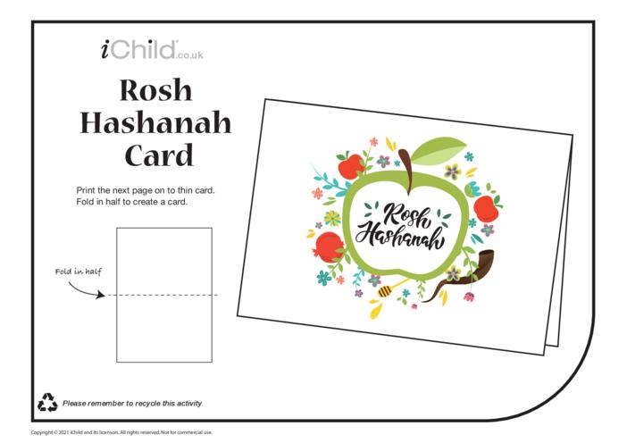 Thumbnail image for the Rosh Hashanah Card activity.