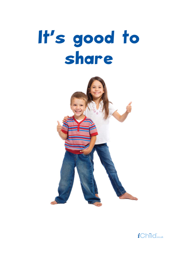 It's Good to Share Poster