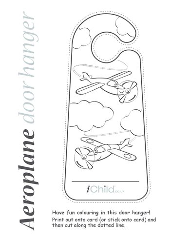 Thumbnail image for the Aeroplane Door Hanger activity.