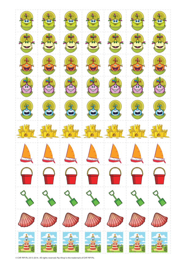 Reward Chart Stickers sheet 1 (Pip Ahoy!)